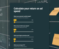 Ad spend roi calculator